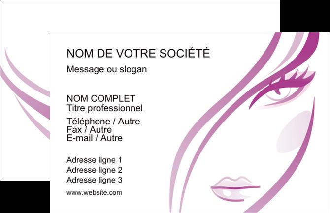 Personnaliser Modele De Carte Visite Institut Beaute Coiffure Coiffeuse Salon MLGI21327