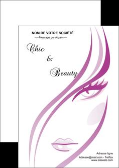 modele en ligne flyers institut de beaute coiffure coiffeuse salon de coiffure MLGI21329