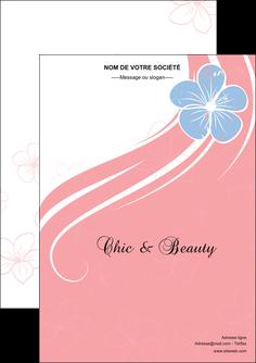 modele en ligne flyers institut de beaute coiffure coiffeur coiffeuse MLGI21331