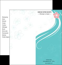 creation graphique en ligne depliant 2 volets  4 pages  institut de beaute coiffure coiffeuse salon de coiffure MLGI21669