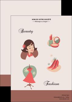 exemple flyers cosmetique beaute soins salon de beaute MLGI21865