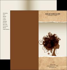 maquette en ligne a personnaliser depliant 2 volets  4 pages  institut de beaute beaute coiffure soin MLGI21955