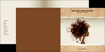 faire depliant 2 volets  4 pages  institut de beaute beaute coiffure soin MLGI21963