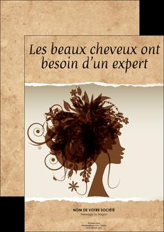 creation graphique en ligne affiche institut de beaute beaute coiffure soin MLGI21967