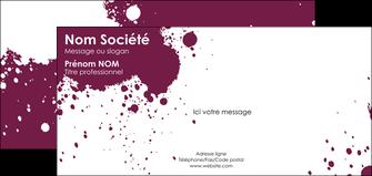 imprimer carte de correspondance design abstrait artistique MIF22169