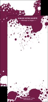 personnaliser maquette flyers design abstrait artistique MIF22175