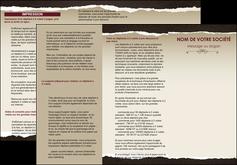 personnaliser modele de depliant 3 volets  6 pages  texture contexture structure MIF22787