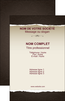 Commander cartes de visite vernis selectif  papier publicitaire et imprimerie Carte de visite - Portrait