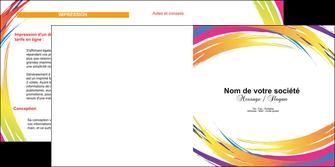 modele en ligne depliant 2 volets  4 pages  abstrait design texture MLIG22835