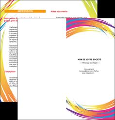 impression depliant 2 volets  4 pages  abstrait design texture MLIG22849