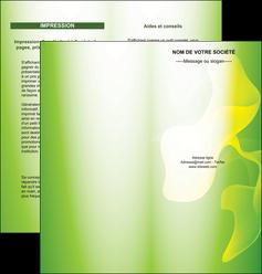 modele en ligne depliant 2 volets  4 pages  texture contexture structure MLGI23197