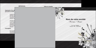 personnaliser modele de depliant 2 volets  4 pages  fleuriste et jardinage fleurs fleuriste jardin MLGI23435