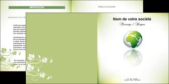 imprimerie depliant 2 volets  4 pages  paysage nature nature verte ecologie MLGI23533