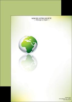 maquette en ligne a personnaliser affiche paysage nature nature verte ecologie MLGI23539