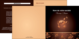 exemple depliant 2 volets  4 pages  bar et cafe et pub cafe cafe noir cafe delices MLGI23583