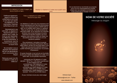 exemple depliant 3 volets  6 pages  bar et cafe et pub cafe cafe noir cafe delices MLGI23585