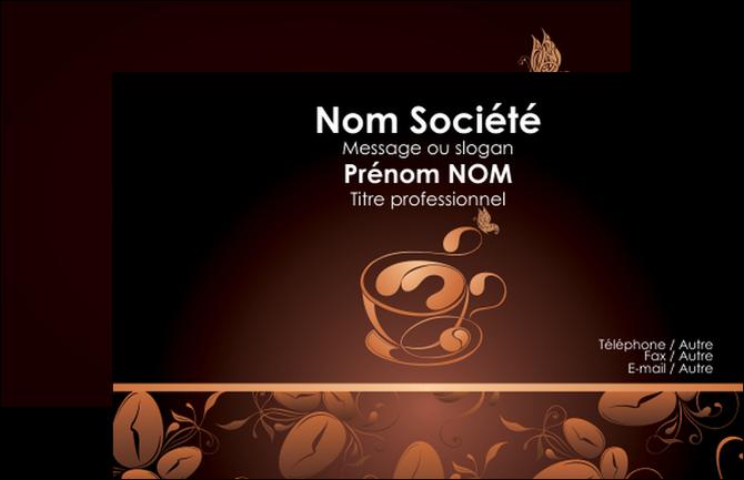 Personnaliser Maquette Carte De Visite Bar Et Cafe Pub Noir Delices MLGI23591
