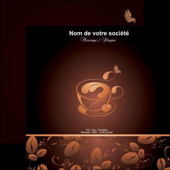 maquette en ligne a personnaliser flyers bar et cafe et pub cafe cafe noir cafe delices MLGI23595
