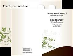 personnaliser modele de carte de visite fleuriste et jardinage feuilles feuilles vertes nature MLGI23607