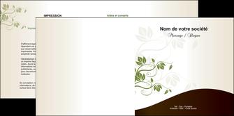 imprimerie depliant 2 volets  4 pages  fleuriste et jardinage feuilles feuilles vertes nature MLGI23609