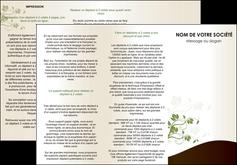 modele en ligne depliant 3 volets  6 pages  fleuriste et jardinage feuilles feuilles vertes nature MLGI23613