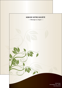 exemple affiche fleuriste et jardinage feuilles feuilles vertes nature MLGI23615