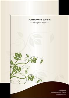 personnaliser maquette flyers fleuriste et jardinage feuilles feuilles vertes nature MLGI23625