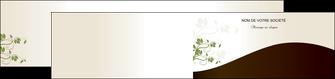 modele depliant 2 volets  4 pages  fleuriste et jardinage feuilles feuilles vertes nature MLGI23627