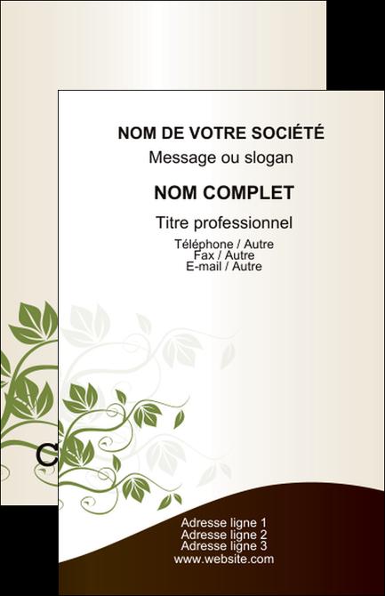 Exemple Carte De Visite Fleuriste Et Jardinage Feuilles Vertes Nature MLGI23631