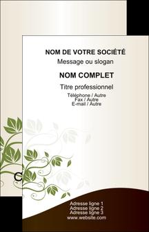 Impression impression carte de visite pelliculage brillant Fleuriste & Jardinage Carte commerciale de fidélité devis d'imprimeur publicitaire professionnel Carte de visite - Portrait