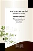 exemple carte de visite fleuriste et jardinage feuilles feuilles vertes nature MLIP23631