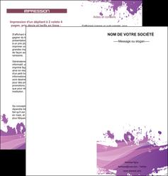 faire modele a imprimer depliant 2 volets  4 pages  peinture texture contexture structure MLGI23749