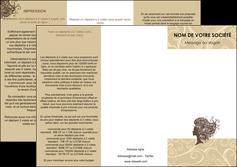imprimerie depliant 3 volets  6 pages  institut de beaute beaute coiffure soin MLGI24211