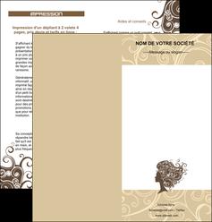creation graphique en ligne depliant 2 volets  4 pages  institut de beaute beaute coiffure soin MLGI24225
