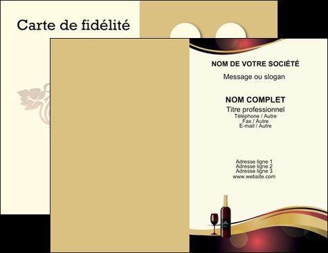 Personnaliser Maquette Carte De Visite Vin Commerce Et Producteur Vignoble Bouteille MLGI24283