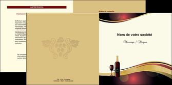 imprimer depliant 2 volets  4 pages  vin commerce et producteur vin vignoble bouteille de vin MLIG24285