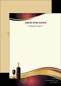 modele flyers vin commerce et producteur vin vignoble bouteille de vin MLIG24287