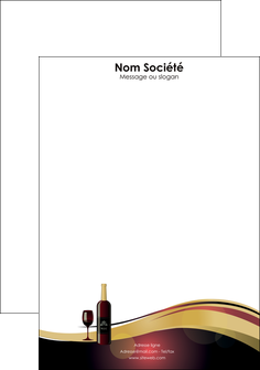 creer modele en ligne tete de lettre vin commerce et producteur vin vignoble bouteille de vin MLIG24295