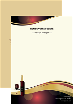 modele flyers vin commerce et producteur vin vignoble bouteille de vin MLIG24301