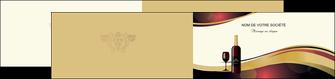 imprimer depliant 2 volets  4 pages  vin commerce et producteur vin vignoble bouteille de vin MLIG24303