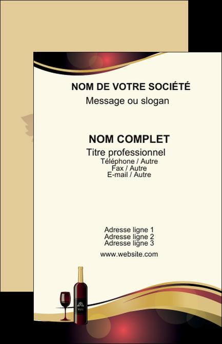 Faire Modele A Imprimer Carte De Visite Vin Commerce Et Producteur Vignoble Bouteille