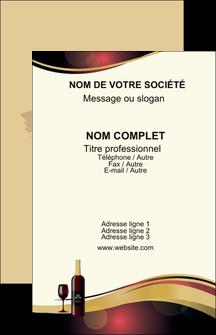 faire modele a imprimer carte de visite vin commerce et producteur vin vignoble bouteille de vin MLIG24307