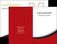 Commander carte de visite pas cher  Carte commerciale de fidélité modèle graphique pour devis d'imprimeur Carte de visite Double - Portrait