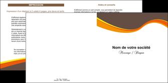 creer modele en ligne depliant 2 volets  4 pages  structure contexture design simple MLGI24609