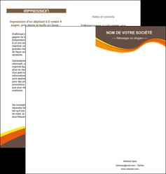 creer modele en ligne depliant 2 volets  4 pages  structure contexture design simple MLGI24625