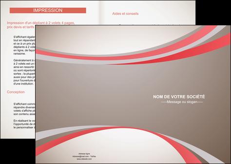 creation graphique en ligne depliant 2 volets  4 pages  structure contexture design simple MLGI24817