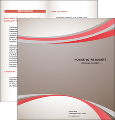 faire depliant 2 volets  4 pages  structure contexture design simple MLGI24841