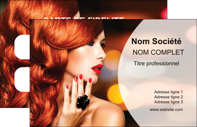 faire modele a imprimer carte de visite cosmetique coiffure coiffeur coiffeuse MLGI25275