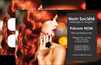personnaliser maquette carte de visite centre esthetique  coiffure coiffeur coiffeuse MLIG25277