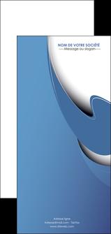 maquette en ligne a personnaliser flyers ure en  bleu pastel courbes fluides MIF25285